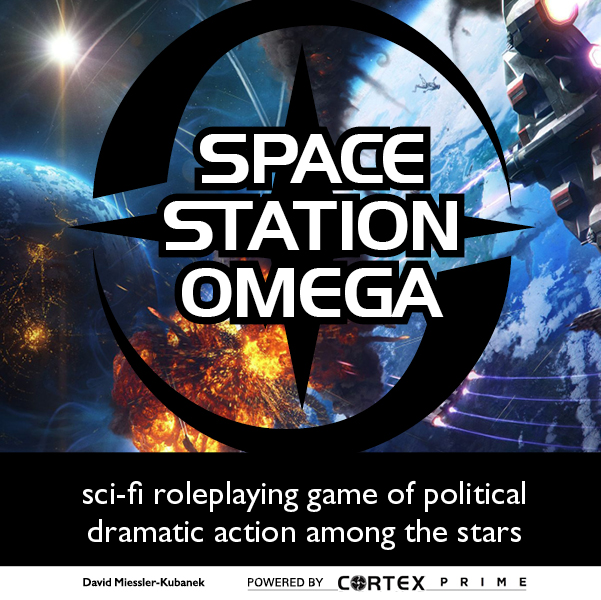 Space Station Omega RPG poster square
